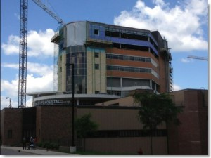 American Family Children's Hospital, Madison, WI. JH Findorff project. Fluid applied air barrier, masonry caulking and parking deck caulking by Sids Sealants.