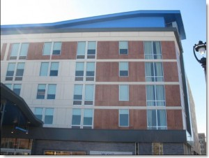 Aloft Milwaukee, composite panel caulking by Sids Sealants.