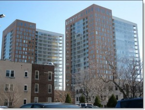 Park LaFayette Condos, Milwaukee, WI. Hunzinger project, interior and exterior window caulking by Sids Sealants.