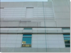 Provena Hospital, Illinois. Precast caulking and pressure wash cleaning by Sids Sealants.