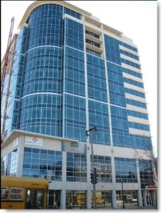 Staybridge Suites, Milwaukee, Wisconsin. Project for Klein Dickert. Interior and exterior window perimiter caulking by Sids Sealants.