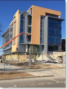 UWM KIRC project for CG Schmidt. Composite aluminum panel caulking by Sids Sealants.