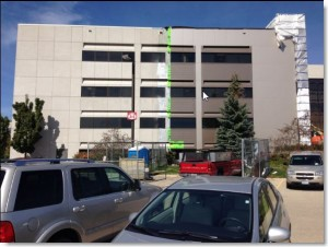 Community Memorial Hospital, Menomonee Falls WI, Boldt Construction project, composite metal panel caulking by Sid's Sealants.
