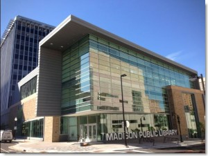 Madison Public Library, composite metal panel caulking by Sid's Sealants