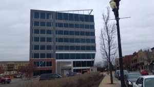 One Menasha Center, Miron Construction project, precast caulking and fire caulking by Sid's Sealants