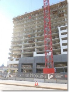 The Moderne, Findorff project, construction progress
