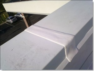 Alternative to metal flashing joint. ULM preformed silicone extrusion tape by Sid's Sealants